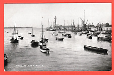 Vintage card. Pre 1918.The Harbour, Margate, Kent