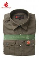 Shooterking Free Move Chemise Olive Taille XL Stretch Manches Longues Femmes