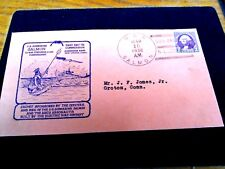 USS SALMON SS-182 Naval Cover 1938 COMMISSIONED Cachet New London, CT