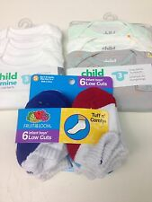 NWT Child of Mine Carters Short Sleeve and long sleeve Bodysuits& SMALL socks