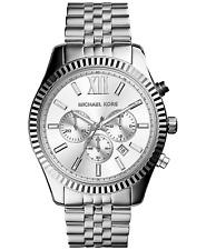 MICHAEL KORS Lexington Chronograph Stainless Steel Silver Men Wrist Watch MK8405