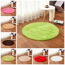 Small Round Non Slip Circles Floor Chair Mats Machine Washable Seat Bedroom Rug
