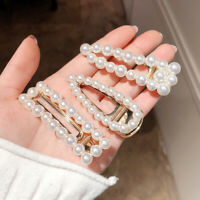 Women Pearl Hair Clip Hairpin Clamp Jewelry Headwear Barrette Hair Accessories