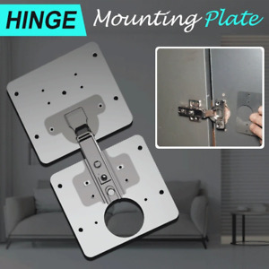 1 Set Hinge Rust Resistant Repair Plate Stainless Steel Cabinet Furniture Repair