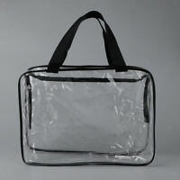 Clear Zippered PVC Cosmetic Toiletry Bag Organizer Travel Bag Makeup Pouch