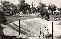 C63/ Hutchinson Minnesota Mn Real Photo RPPC Postcard 1958 Park Scene Dam Kids