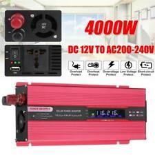 AU 4000W Pure Sine Wave Power Inverter 12V to 240V Converter RV Camping Caravan