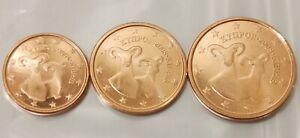 Chypre 2008 Lot de 3 pièces 1.2.5 cts euro neuves, issues de rouleaux.
