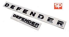 LAND ROVER DEFENDER FRONT & REAR GLOSS BLACK LETTERING BADGES 90 110 EMBLEMS KIT