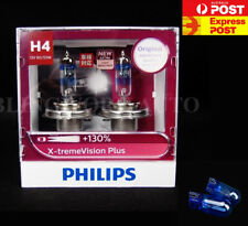 (FREE T10) Aus PHILIPS H4 X-treme Vision Plus +130%  Halogen Light bulbs extreme