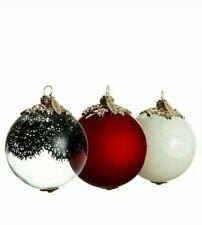 Jason Wu  Glass Ornament Set THREE COLORS Red White Black NEW IN BOX