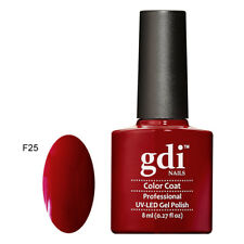 "gdi Nails, Brand New ""Red Series"" Soak Off Gel, UV Led Gel Nail Polish Varnish"