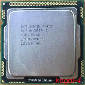 Intel Core i7-875k slbs 2.93ghz LGA 1156 2 8m cache 4 core CPU processor