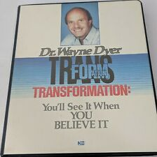 Dr Wayne Dyer Transformation You'll see it when you believe it 6 cassette tapes