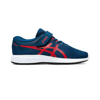 Asics Patriot 11 Junior Kids Running Fitness Training Trainer Shoe Blue/Red