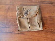 U.S. HAMLIN CAMLIN GOODS CO 1943 M1 MAGAZINE POUCH W 49 MARKING NICE INTNTL SALE