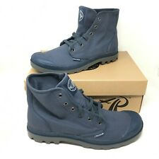Palladium Men's Pampa Hi Canvas Lace-up Indigo/ Metal Boots Size 13