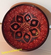 Turkish Powl Handmade Red With Black. 5 Inches Circumference.