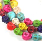 10mm Tiny Colorful Turquoise Skull Beads Halloween (20)