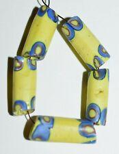 Antique Venetian Yellow Italian Millefiori Cane Insert Glass Beads African Trade