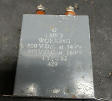 TCC 1uF 500V PAPER OIL CAPACITOR. TYPE 82. TESTED FOR LEAKAGE.