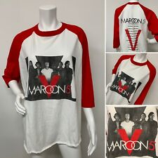Maroon 5 V Tour 2015 Xl 3/4 Sleeve Red White Top Shirt Adam Levine Rare!