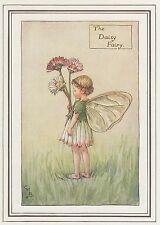 CICELY MARY BARKER c1930 THE DAISY FAIRY Painting Vintage Art Book Print
