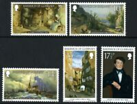 GUERNSEY 1980 PAINTINGS SET OF ALL 5 COMMEMORATIVE STAMPS MNH (w)