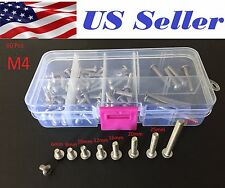 60pcs M4 6-40 mm Stainless Steel Hex Button Head Allen Bolt Screw Assortment kit
