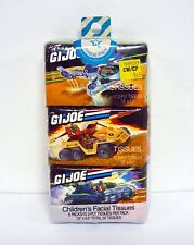 GI JOE CHILDREN'S FACIAL TISSUES 6 PACK Vintage Printed Tissue Packs SEALED 1988