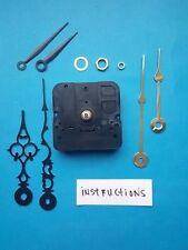 SHORT SHAFT Quartz Clock Movement Kit w/ 3 Pairs of Hands - American Made (982A)