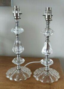 "Pair LAURA ASHLEY ""Kiera"" Glass Table Lamps"