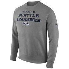 Nike Men's Seattle Seahawks Stadium Classic Club Sweatshirt Grey Large