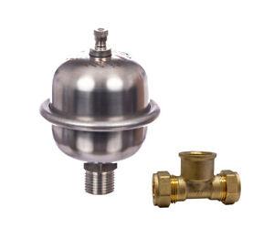 15MM Shock Arrestor Easy Fit Mini Expansion Vessel Anti Water Hammer *NEW*