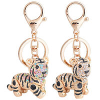 Pendant Keychain Gold Accessories Ring Gift Bag Alloy Car 1PC Fashion Tiger AA