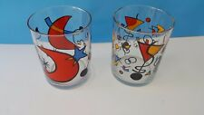 Surrealist Drinking Glass Tumblers Modern Abstract Style 2 Old Fashion Glasses
