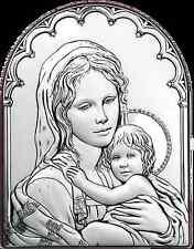 Quadro in Argento Madonna Con Bambino, Capezzali Moderni, Icone Sacre Argento