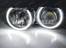 2x Car COB LED Dual Angel Eyes Halo Ring Fog Lamp Light 80mm for BMW Ford