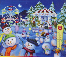 PUZZLE .JIGSAW.....McINTYRE....Snowman Carnival...200..pc...Sealed