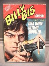 SUPER BILLY BIS Editrice Universo 1972 N 31 Fumetti Narrativa per Ragazzi Gialli