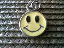 DON'T BE SAD BE HAPPY JEWELRY 1 SMILEY FACE in YELLOW PEWTER CHARM or PENDANT.