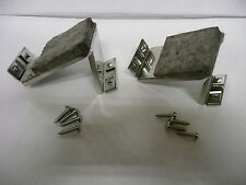 MGB MGC STAINLESS WINDOW STOP BRACKETS PART NUMBERS AHH7550 & AHH7551 + FITTINGS