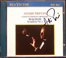Andre PREVIN Signed WALTON Symphony No.1 VAUGHAN WILLIAMS Wasps Overture CD RCA