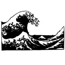 THE WAVE unmounted Japanese rubber stamp, Mt. Fuji #12