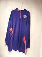 New York Knicks Mens Shirt Long Sleeve NBA Basketball  Pullover Blue  4XLT