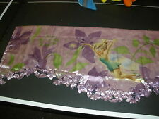 "MINT Disney Fairies Tinkerbell ""Catch You Later"" purple Window Valance 50"" x 18"""