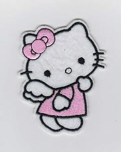 Cute Hello Kitty Embroidered Iron On / Sew On Patch