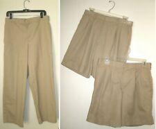 """Men's Teen Boy Size 31x29 31"""" Waist School Uniform Pants & Shorts Tan Khaki Lot"""