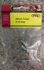 CARAVAN/MOTORHOME/BOAT 3 X 20mm 3.15A Fuse - NEW