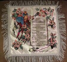 Fringe Sweetheart Poem Pillowcover Blue, Cherry Blossom Luv Birds Portland Or